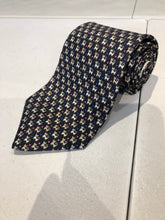 Salvatore Ferragmo Men's Dark Gray Geometric Cats Pattern Silk Neck Tie - SUIT CHARITY OUTLET