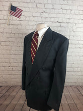 Perry Ellis Men's Gray Stripe WOOL Suit 46L 36X33 - SUIT CHARITY OUTLET