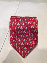 Vineyard Vines Men's Red Novelty Patriotic Pattern Silk Neck Tie