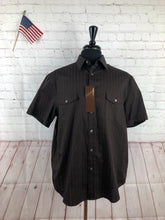 NEW NWT Perry Ellis Men's Brown Stripe Cotton Button Down Dress Shirt XL - SUIT CHARITY OUTLET