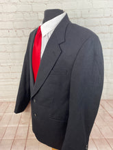 Oakton Ltd. Men's Black Textured Wool Blend Blazer 46L $225 - SUIT CHARITY OUTLET