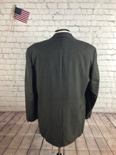 Chaps Ralph Lauren Men's Brown Houndstooth Wool Blazer Sport Coat Suit Jacket Size 44R $298 - SUIT CHARITY OUTLET