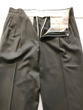 Yves Saint Laurent Men's Gray Wool Flat Front Dress Pants 36x30 - SUIT CHARITY OUTLET