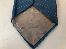 Christian Dior Men's Blue Dotted Silk Neck Tie - SUIT CHARITY OUTLET