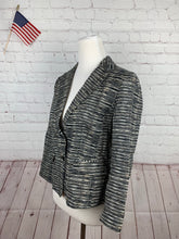 SAS740 Ann Taylor Loft Women's Black Textured Blazer 4 - SUIT CHARITY OUTLET