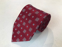 Jos. A. Bank Men's Red Geometric Silk Neck Tie - SUIT CHARITY OUTLET