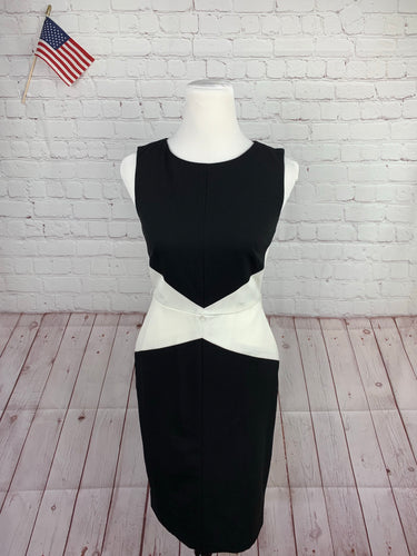 Calvin Klein Women's Black & White Solid Dress 2 - SUIT CHARITY OUTLET