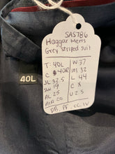 Haggar Men's Grey Striped Suit 40L 37X32 - SUIT CHARITY OUTLET