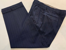 Ermenegildo Zegna Men's Navy Blue Stripe Suit 42R Pants 37X27 - SUIT CHARITY OUTLET