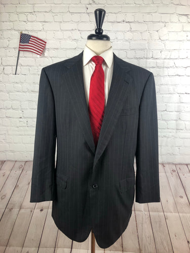 Brioni Men's Dark Gray Stripe Wool Suit 44R 36X26 - SUIT CHARITY OUTLET