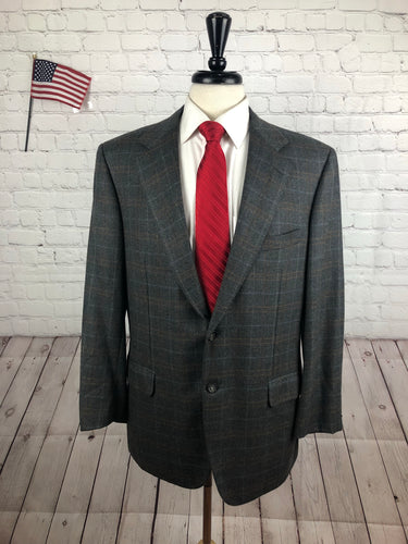 Brioni Men's Gray Cashmere 2 Button Blazer Sport Coat Suit Jacket 42R - SUIT CHARITY OUTLET