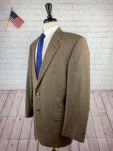Joseph Abbound Men's Brown Check Wool Two Button Suit 42L 35x30 - SUIT CHARITY OUTLET