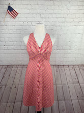 Ann Taylor Women's Cotton Pink Striped Dress 6P - SUIT CHARITY OUTLET