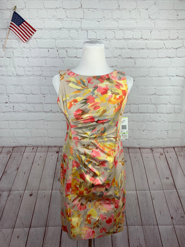 New Anne Klein Women's Pink Floral Dress 4P