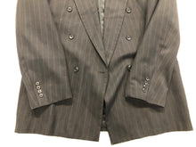 Oleg Cassini Men's Navy Stripe Blazer Sport Coat Suit Jacket 42L - SUIT CHARITY OUTLET
