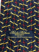 Brooks Brothers Men's Navy Blue Gold Geometric Silk Tie - SUIT CHARITY OUTLET