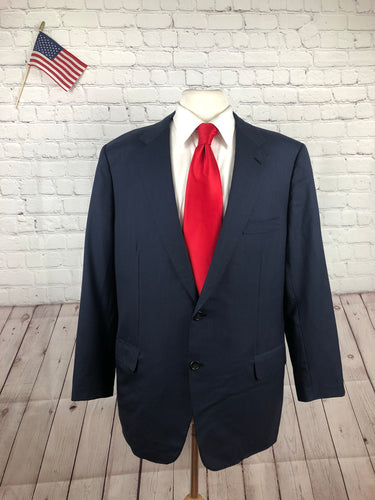 Brioni Men's Navy Stripe Super 170's Wool Suit 46R 40x29 - SUIT CHARITY OUTLET