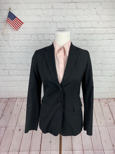 Banana Republic Women's Black Solid Wool Blazer 4P - SUIT CHARITY OUTLET