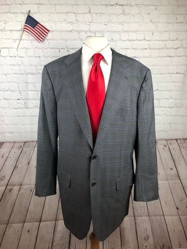 Kiton Men's Gray Plaid Super 210's Wool Suit 46R 39x32 - SUIT CHARITY OUTLET