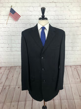 Joseph & Feiss Men's Navy Wool Two Button Suit 42R 34X29 - SUIT CHARITY OUTLET