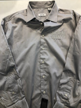 NEW NWT Calvin Klein Men's Gray Cotton Pointed Collar Dress Shirt 17.5/18 - 34/35 - SUIT CHARITY OUTLET