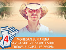 FOUR Kenny Chesney Concert Tickets In VIP Skybox Suite - Mohegan Sun CT AUG 11 2017 -