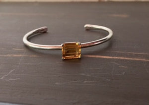 Citrine and Sterling Cuff