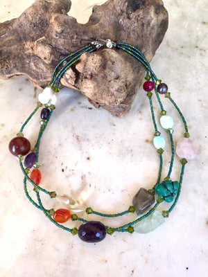 One of a Kind ~ Fabulous Gemstone Necklace