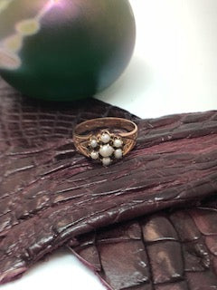 10K Seed Pearl ring