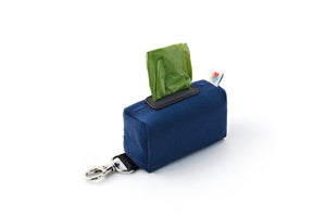 The No Dangle Dog Poopbag Dispenser - Navy