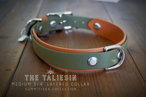 "3/4"" Taliesin Layered Buckle Collar"