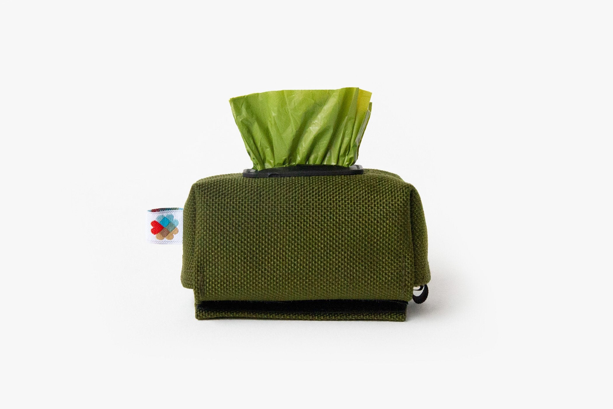 The No Dangle Dog Poop-bag Dispenser - Olive