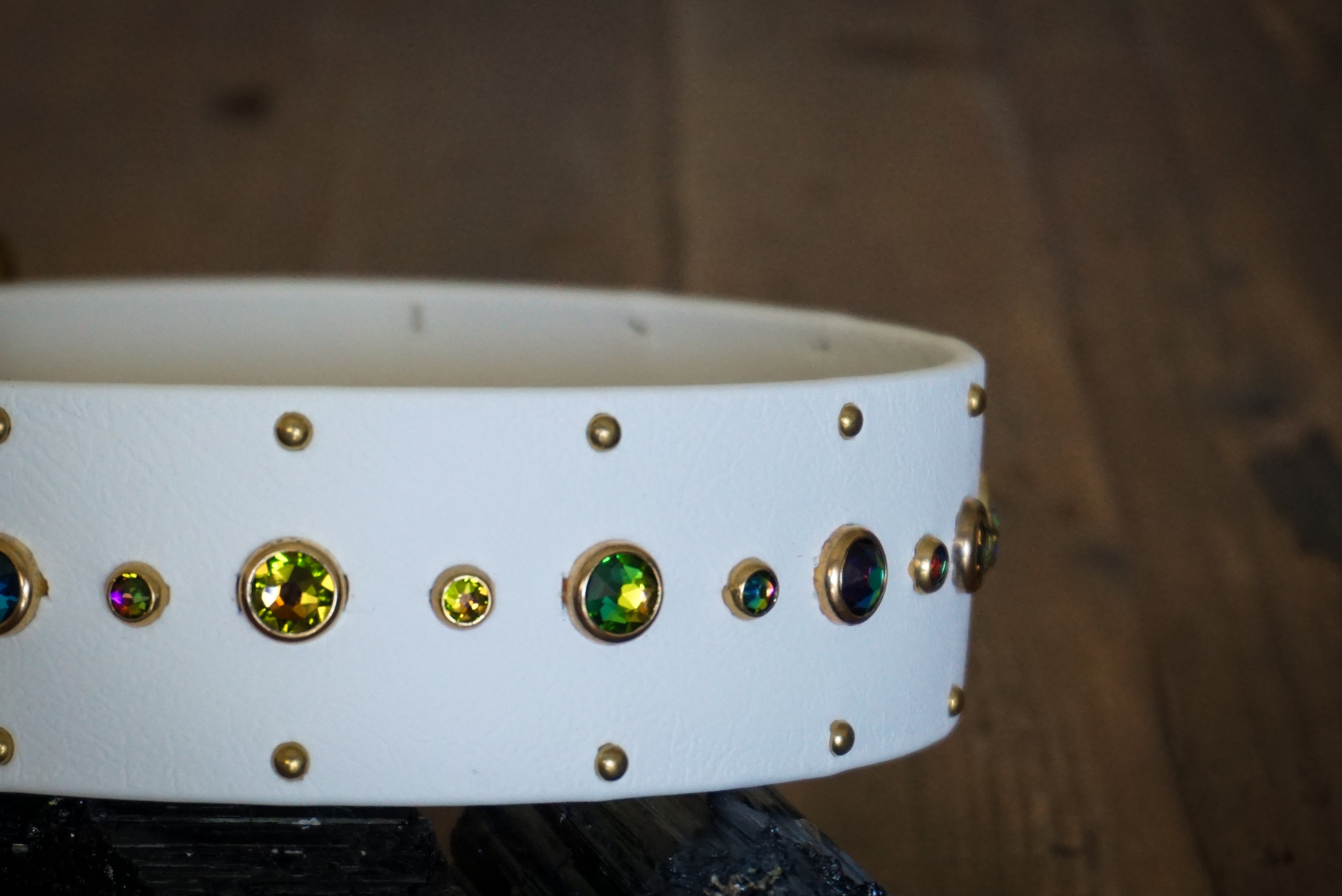 "SHASTA 1.5"" Swarovski Studded Buckle Collar"