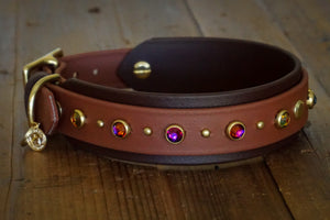 "TOFINO 1.5"" Swarovski Studded Buckle Collar"