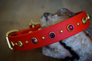 "TOFINO 1"" Swarovski Studded Buckle Collar"