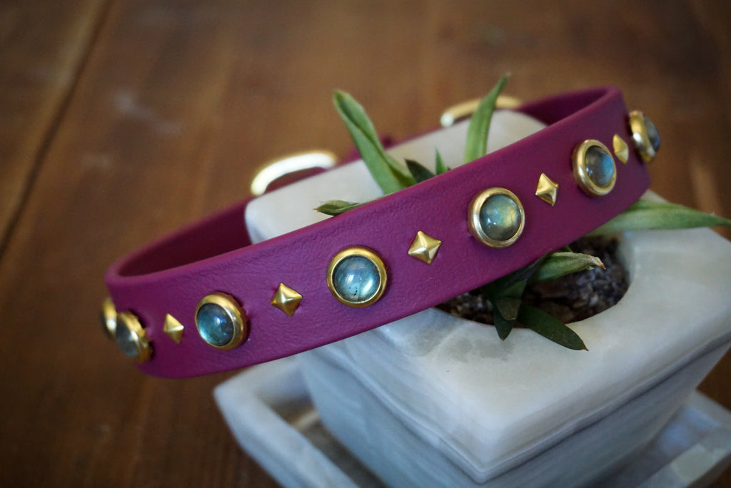 "1"" GAIA Gemstone Buckle Collar"