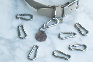 Mini Metal Spring Link for Collar Tags - Silver
