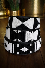 Ebony & Ivory Beaded Dog Collar - The Kenyan Collection