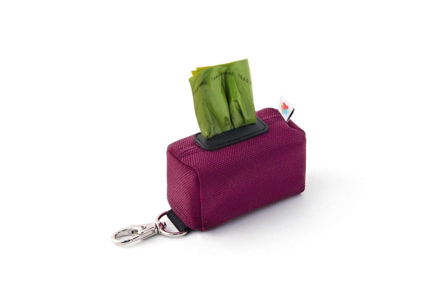 The No Dangle Dog Poopbag Dispenser - Maroon