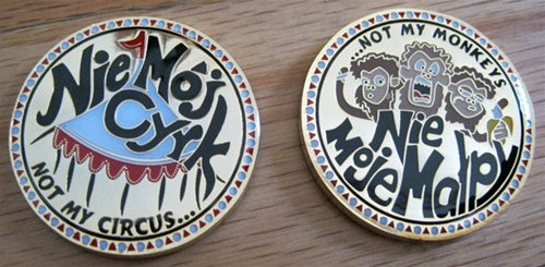 Not My Circus, Not My Monkeys challenge coin