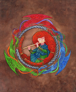 Cover Art from The Dragonbone Flute Print By Keliana Tayler