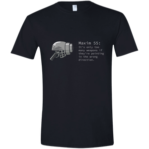 M55 Too Many Weapons 100% cotton short sleve