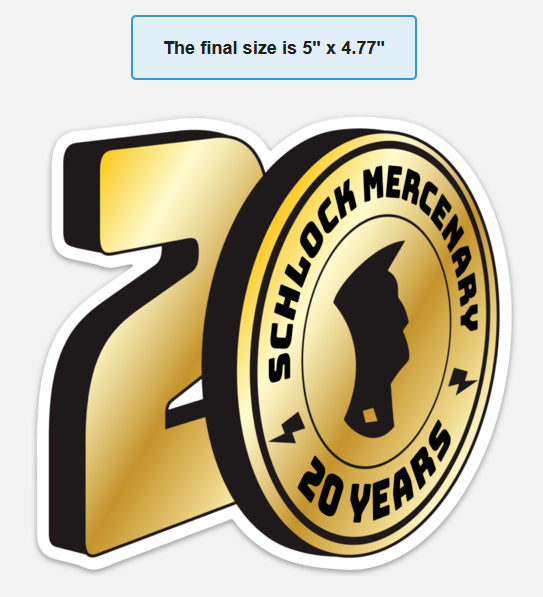 Schlock Mercenary 20th anniversary magnet