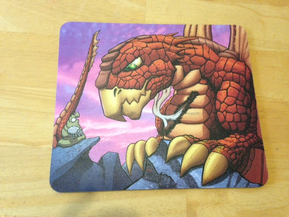 Schlock and Dragon Mousepad