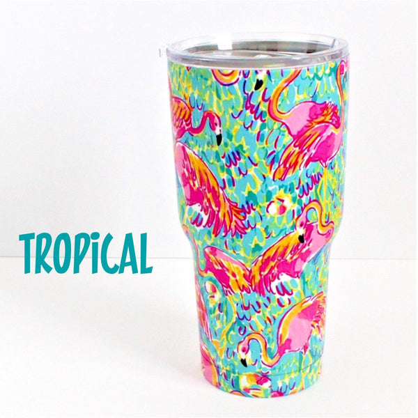 30 oz. Stainless Steel Insulated Cups-Little Spud Boutique-Tropical-Little Spud Boutique