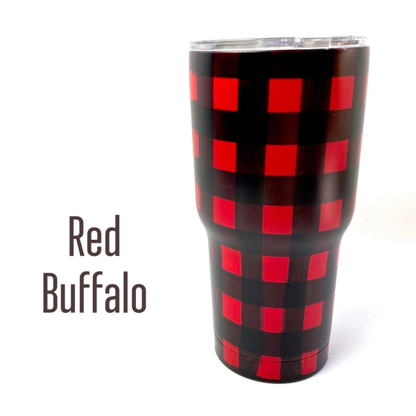 30 oz. Stainless Steel Insulated Cups-Little Spud Boutique-Red Buffalo-Little Spud Boutique