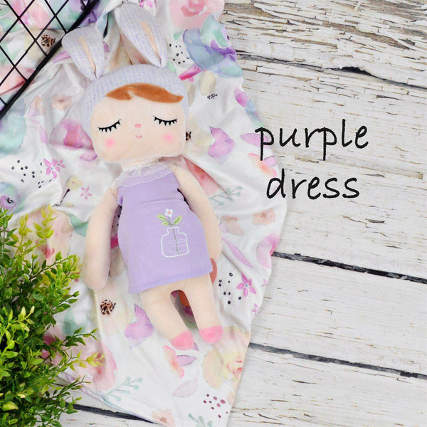 Plush Dolls-Little Spud Boutique-Purple Dress-Little Spud Boutique