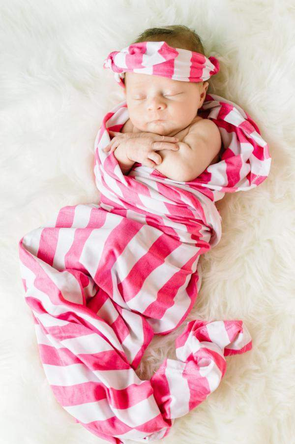 18d6dce25 ... Baby Girl Swaddle Blanket and Bow-Little Spud Boutique-Little Spud  Boutique ...
