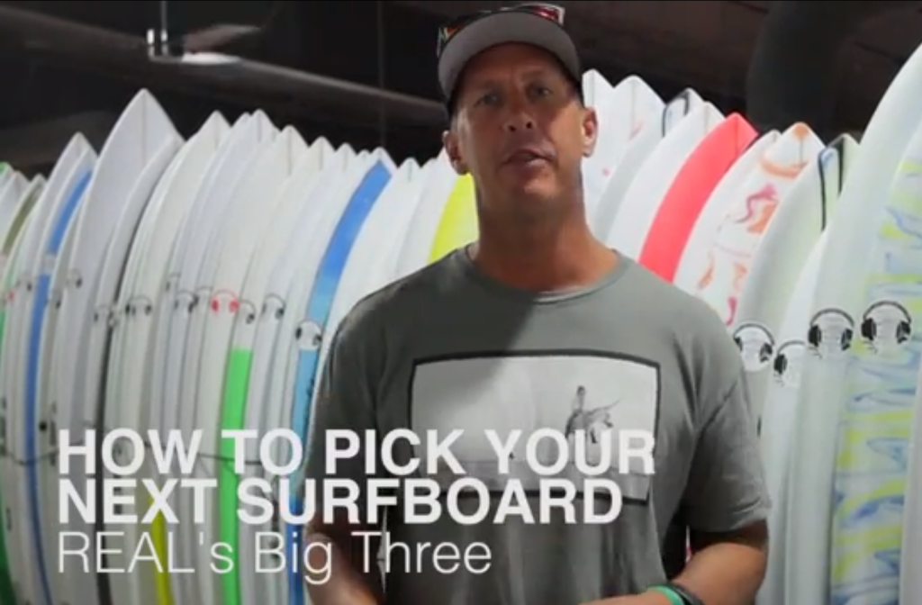 1484223061 How to choose the right size surfboard - The Big 3 — REAL Watersports