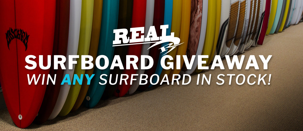 REAL Surfboard Giveaway - Win Any Surfboard in Stock